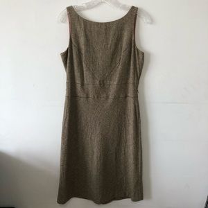 Ann Taylor Tweed Shift Dress Sz 10P